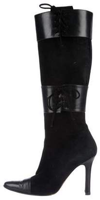 Dolce & Gabbana Suede Pointed-Toe Boots