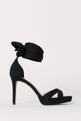 H&M Sandals with Ankle Tie - Black