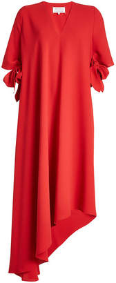 Maison Margiela Asymmetric Crepe Dress with Bow Sleeves