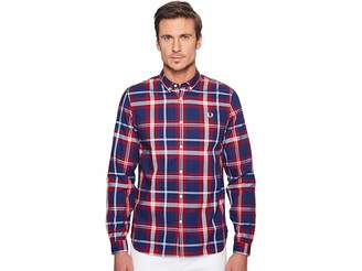 Fred Perry Bold Check Shirt Men's Short Sleeve Button Up
