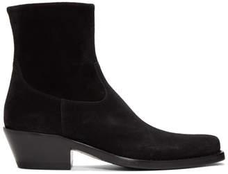 Calvin Klein Black Suede Western Tod Boots