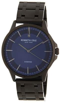 Kenneth Cole Men's Stainless Steel Metal Watch, 44mm