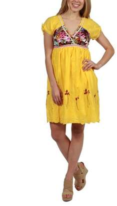 24/7 Comfort Apparel 24Seven Comfort Apparel Mary Kate Yellow Summer Dress