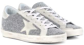 Golden Goose Superstar crystal-studded sneakers