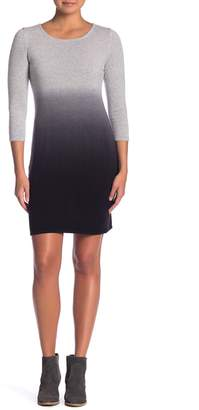 Olsen Sigred 3/4 Sleeve Ombre Cashmere Dress