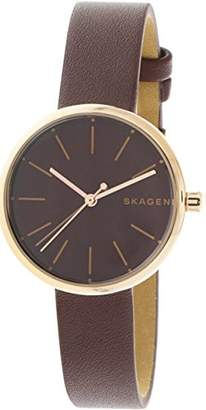 Skagen Women's 'Signatur' Quartz Stainless Steel and Leather Casual Watch