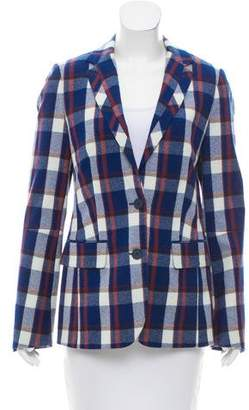 Tommy Hilfiger Wool Plaid Patterned Blazer