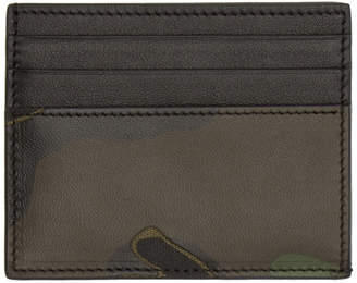 Valentino Green Garavani Camo Card Holder