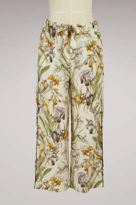 Alexander McQueen Printed Silk Pajama Pants