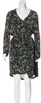 Zadig & Voltaire Floral Long Sleeve Midi Dress