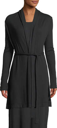 Skin Cotton-Blend Short Wrap Robe