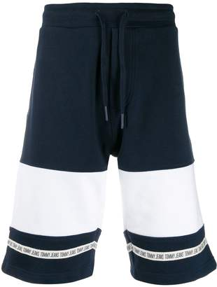 Tommy Jeans colour-blocked baseball shorts