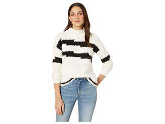 1 STATE 1.STATE Multi Texture Crew Neck Sweater