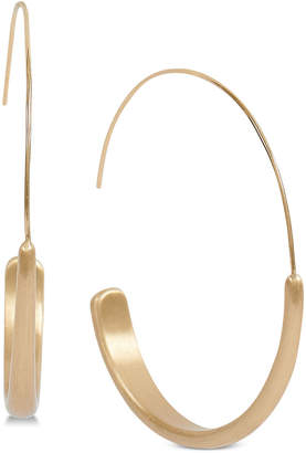 Lucky Brand Gold-Tone Modern Hoop Earrings