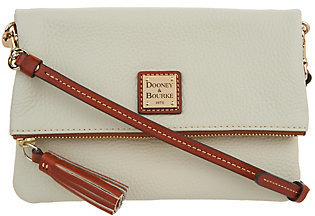 As Is Dooney & Bourke Pebble Leather Foldover Zip Crossbody $96 thestylecure.com