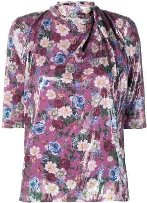 Erdem floral sequined top