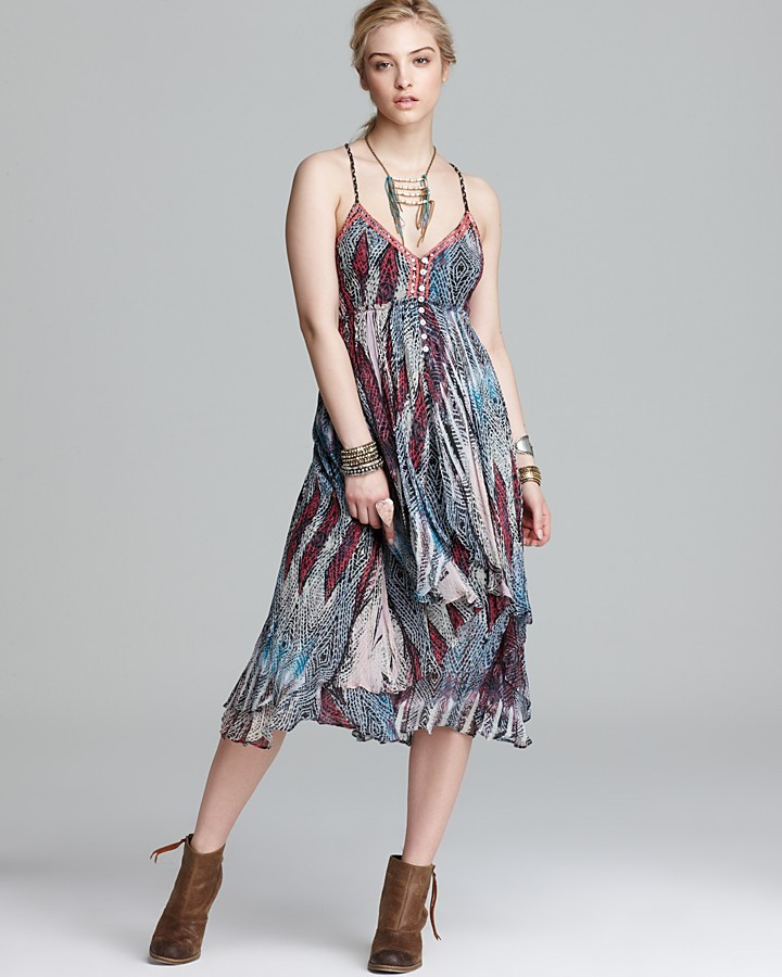 Free People Dress - Sea Gypsy Printed Crinkle