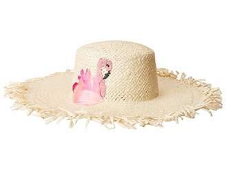 San Diego Hat Company PBL3102OS Woven Paper w/ Flamingo
