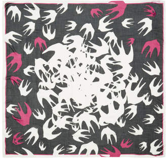 McQ Black Swallow Swarm Scarf
