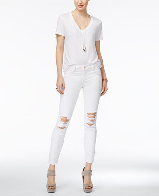 Joe's The Icon Ripped Skinny Ankle Jeans $198 thestylecure.com