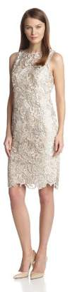 Adrianna Papell Women's's Illusion Neck Lace Dress