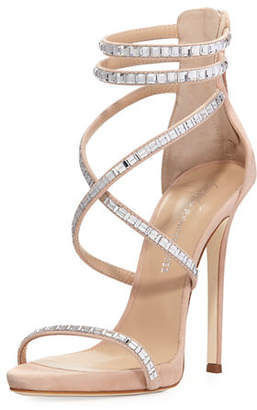 Giuseppe Zanotti Coline Suede and Crystal Sandal