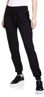 Beyond Yoga Shine On Tuxedo Jogger Pants w/ Velvet Stripes