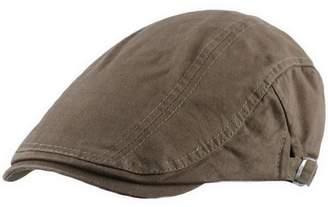 Ukerdo Cotton Flat Berets Hats for Men Cabbie Duckbill Cap Accessories -  Black 4a136244ce5