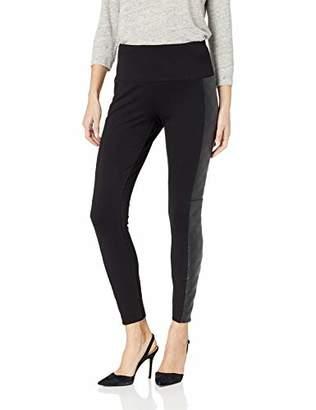 Lysse Women's Quilted Vegan Leather Side Panel Ponte Legging