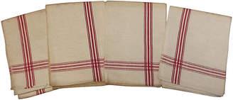 One Kings Lane Vintage French Red Stripe Towels - Set of 4 - Schorr & Dobinsky