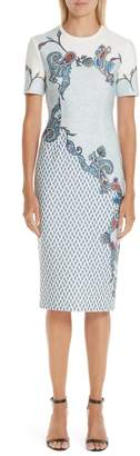 Yigal Azrouel Paisley Print Scuba Dress