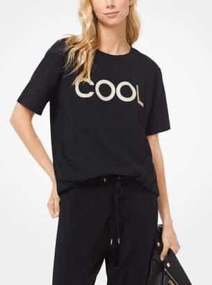 MICHAEL Michael Kors Studded Cotton-Jersey T-Shirt