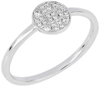 Bony Levy 18K White Gold Diamond Circle Ring - 0.11 ctw