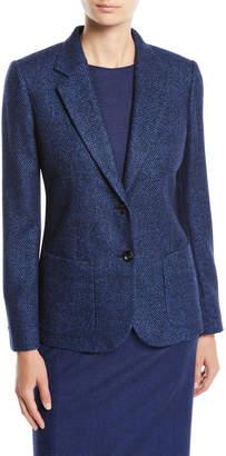 Kiton Two-Button Textured Wool-Blend Jacket