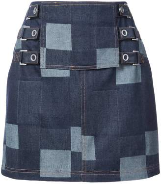 Opening Ceremony denim tab mini skirt
