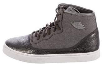 Nike Jordan Embossed High-Top Sneakers