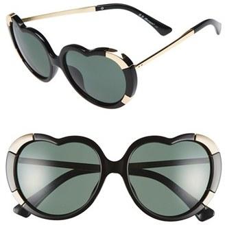 A.J. Morgan 'Heartstomper' 58mm Heart Shaped Sunglasses $24 thestylecure.com
