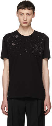 Valentino Black Star Stud T-Shirt