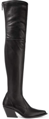 Givenchy Leather Over-the-knee Sock Boots - Black