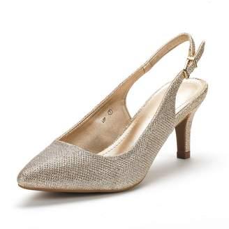 DREAM PAIRS Women's LOP Low Heel Pump Shoes