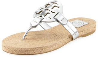 Tory Burch Miller Logo Espadrille Flat Thong Sandal