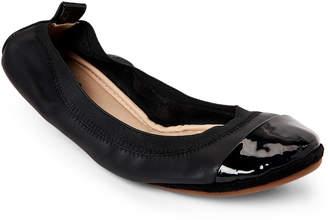 Yosi Samra Black Samantha Cap Toe Ballet Flats