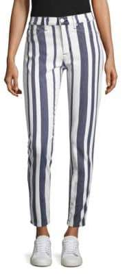 Hudson Barbara Striped Skinny Jeans