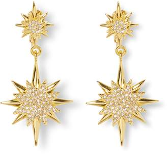 Vince Camuto Celestial Double Drop Clip-On Earrings
