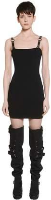Alyx Rib Knit Dress W/ Faux Leather Straps