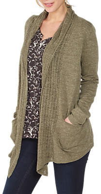 Fat Face Libby Organic Cotton Cardigan, Light Sage