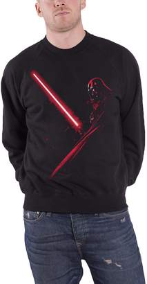 Star Wars Paradiso Clothing Sweatshirt Darth Vader Light Saber Glow Logo Official Mens New