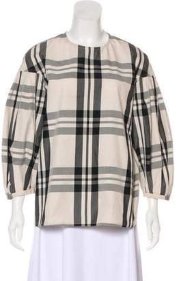Sofie D'hoore Plaid Long Sleeve Top