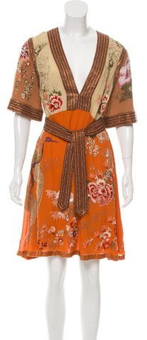 GucciGucci Spring Embellished Silk Dress w/ Tags