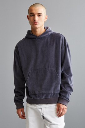 Urban Outfitters UO Malone Velour Hoodie Sweatshirt $59 thestylecure.com